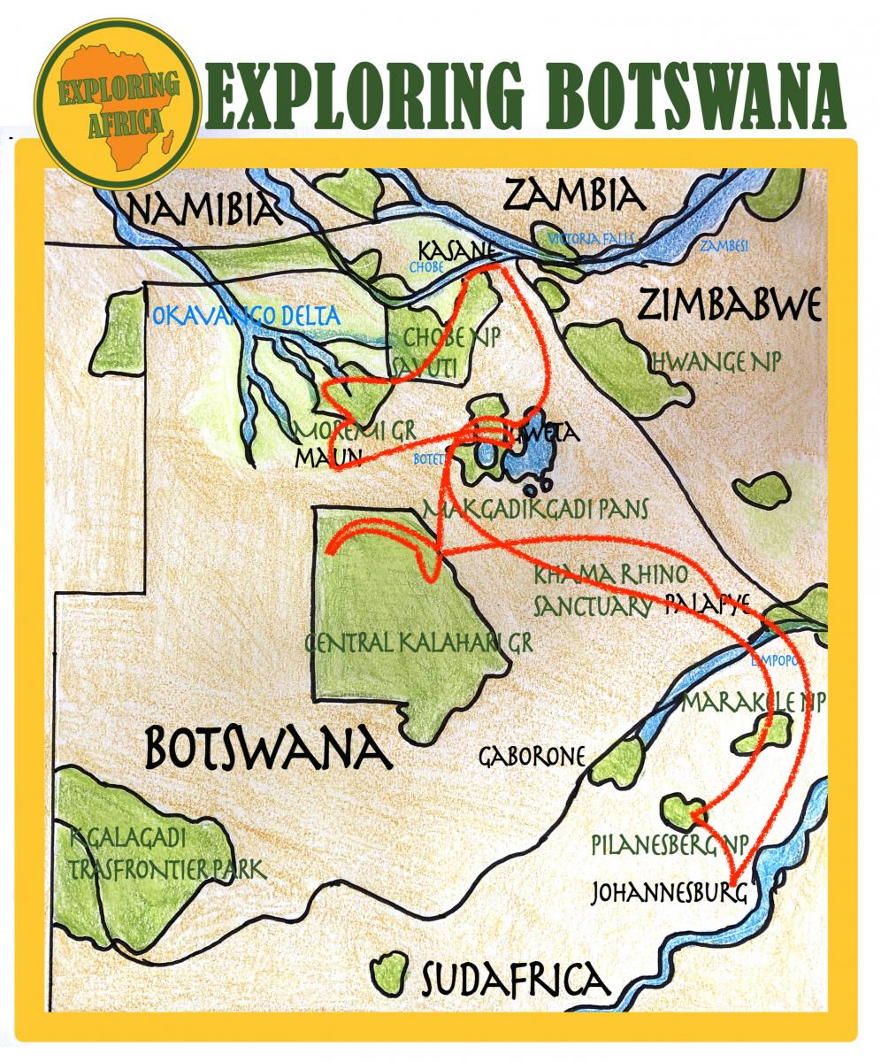 exploringafrica south africa botswana itinerary