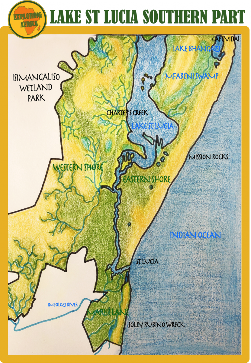 isimangaliso south map