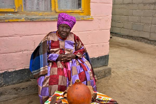 nama people namibia, old woman