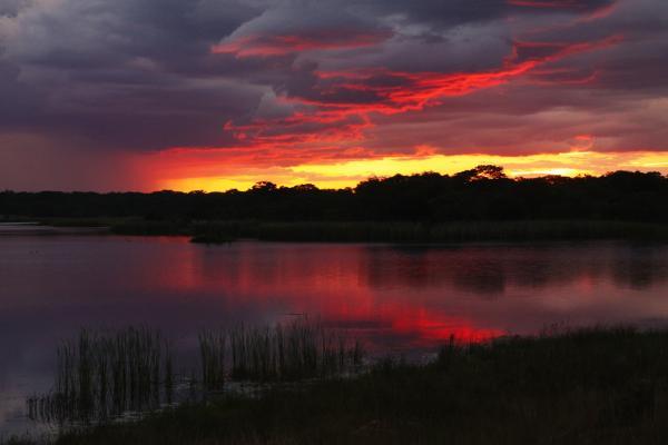 sunset zimbabwe