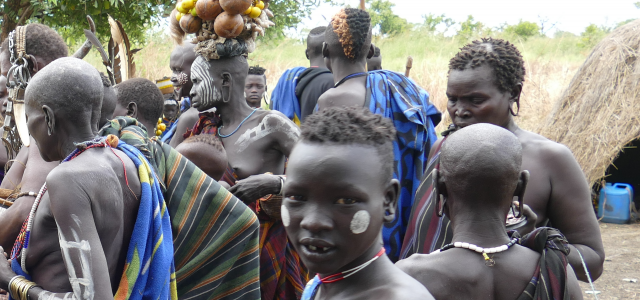 Mursi people, ethiopia, omo valley