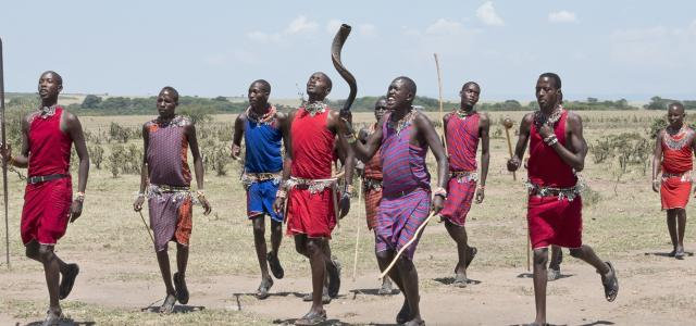 maasai in Ngorongoro Conservation Area