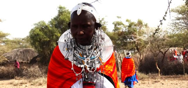 A masai with beautiful necklace and jewelry