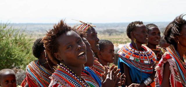 samburu people kenya, young women with colorful necklace
