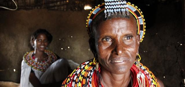 samburu people in kenya, old woman