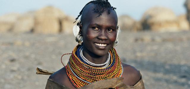 young man of turkana people kenya