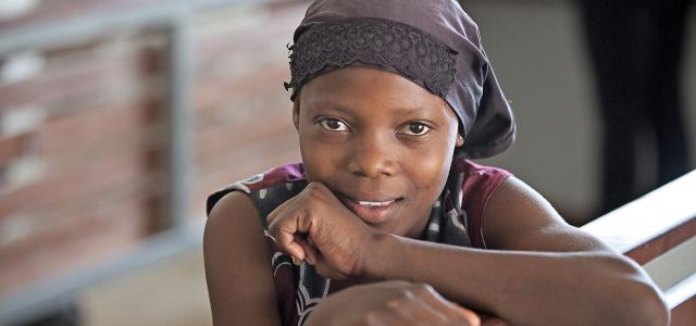 young girl of luo people in kenya