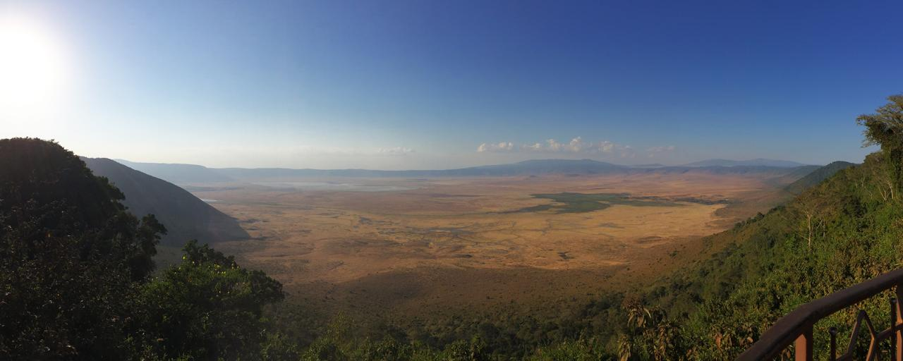 ngorongoro crater at the sunset