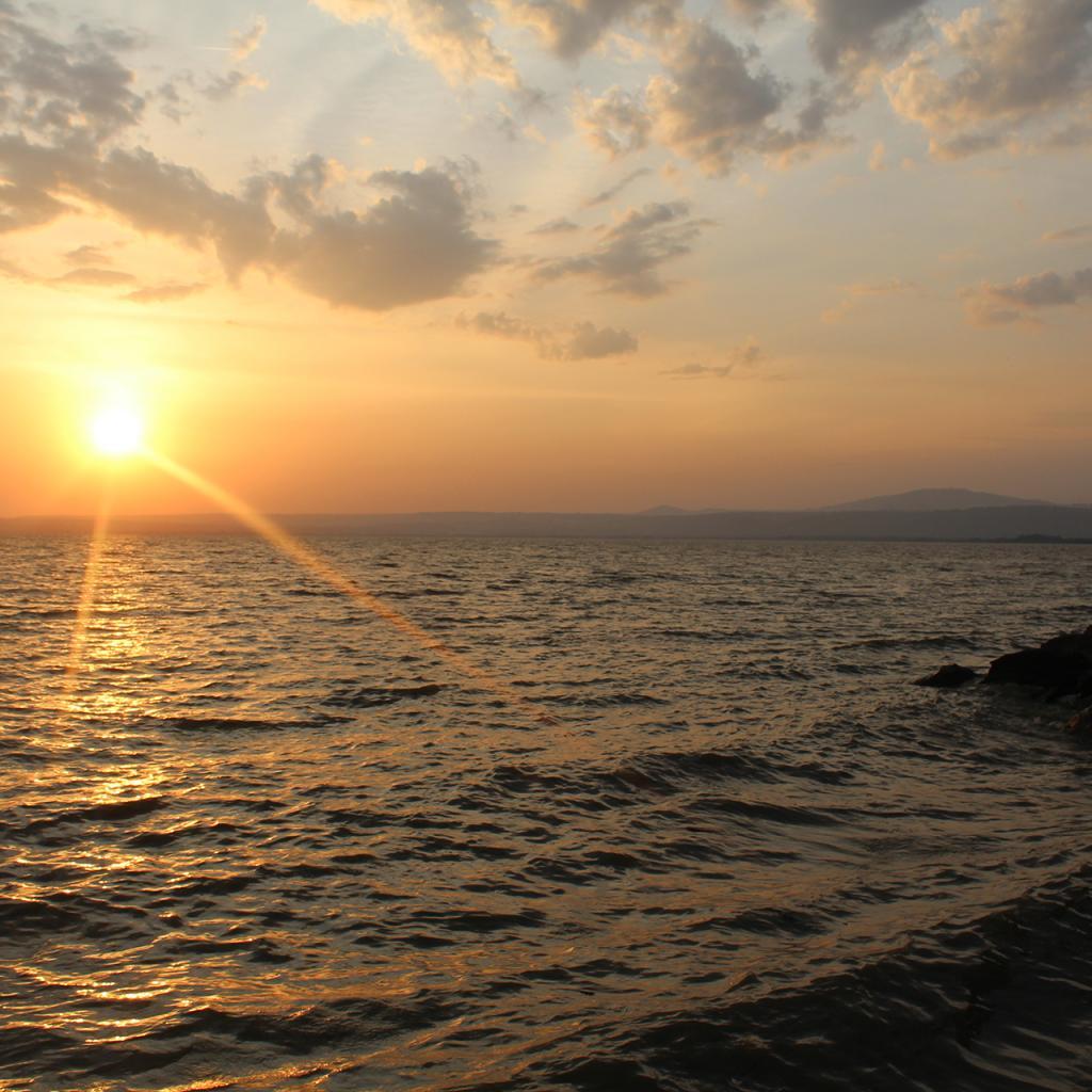 luo land in kenya, wonderful sunset in lake victoria