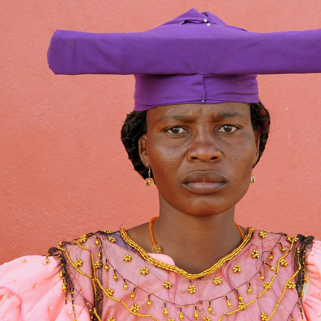 herero woman with traditional hat