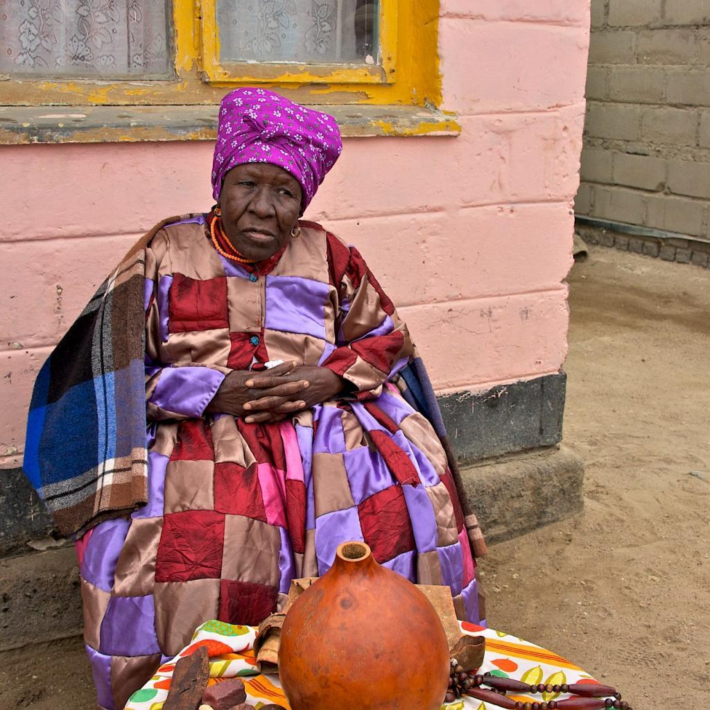 nama people namibia, old woman