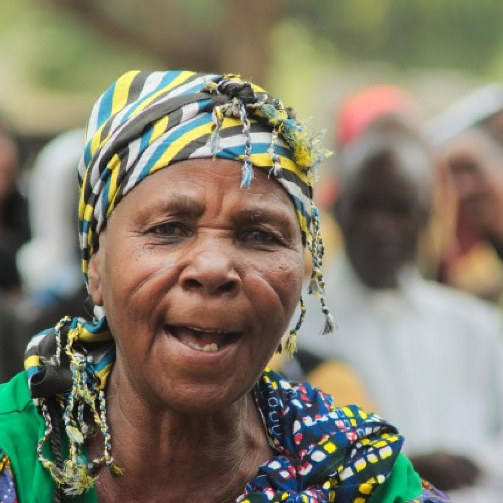 mbugwe old woman in tanzania