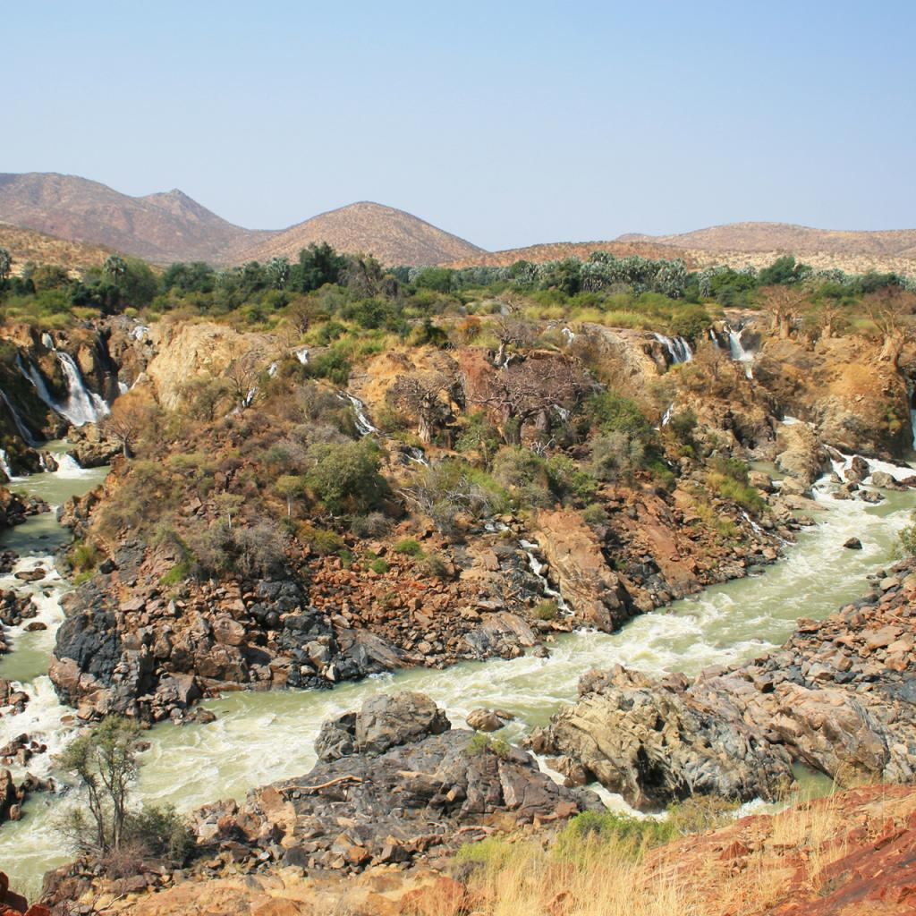 epupa falls namibia river africa landscape
