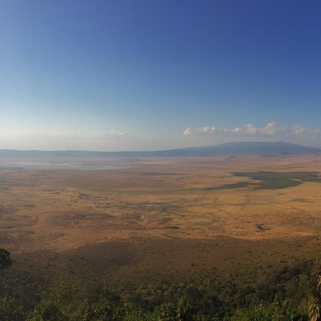 ngorongoro crater at the sunset