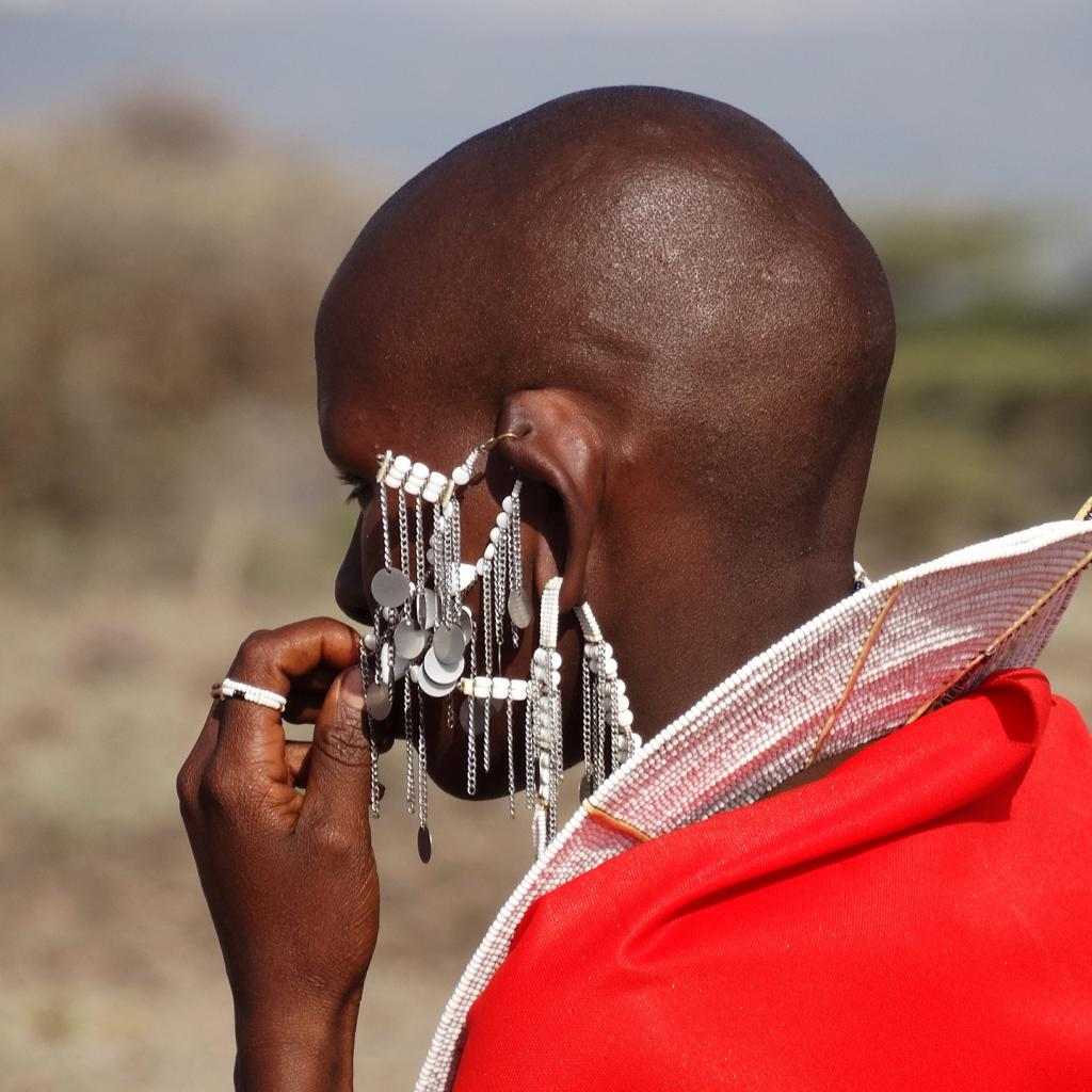 Traditional Maasai jewelry in Tanzania