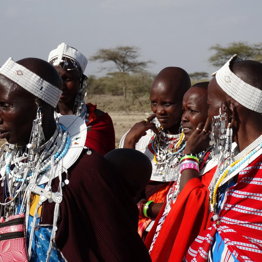 Traditional Maasai jewelry and dressing in Tanzania