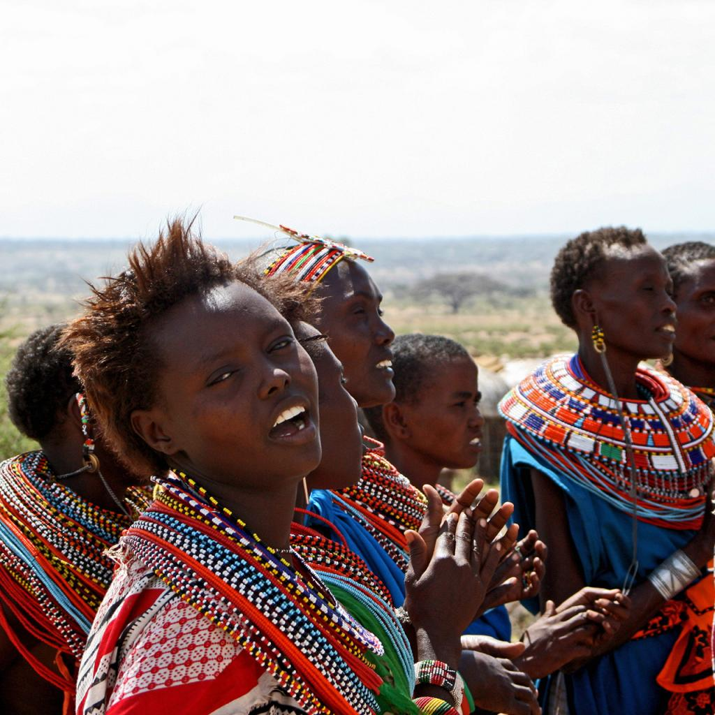 samburu people kenya, young women with colorful necklace