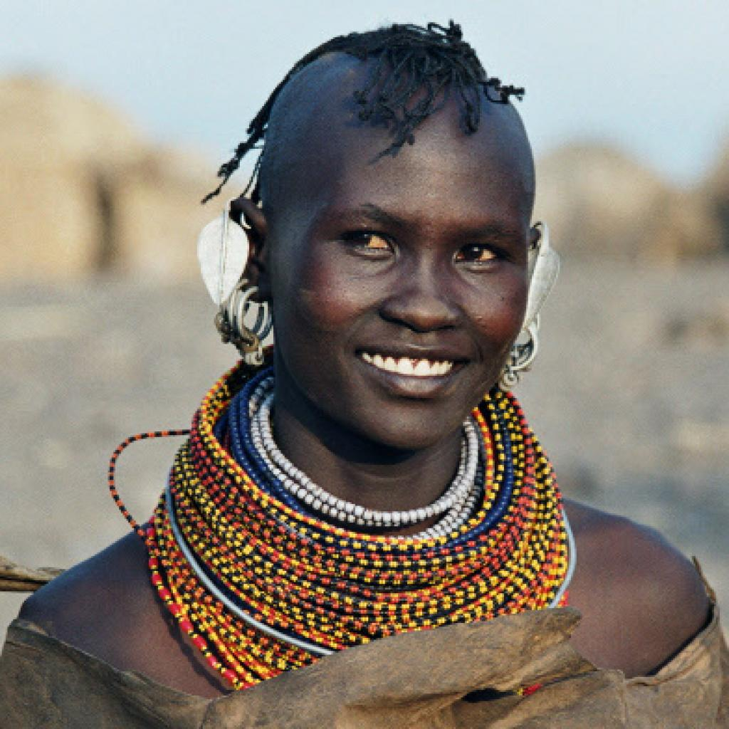 young man of turkana people kenya