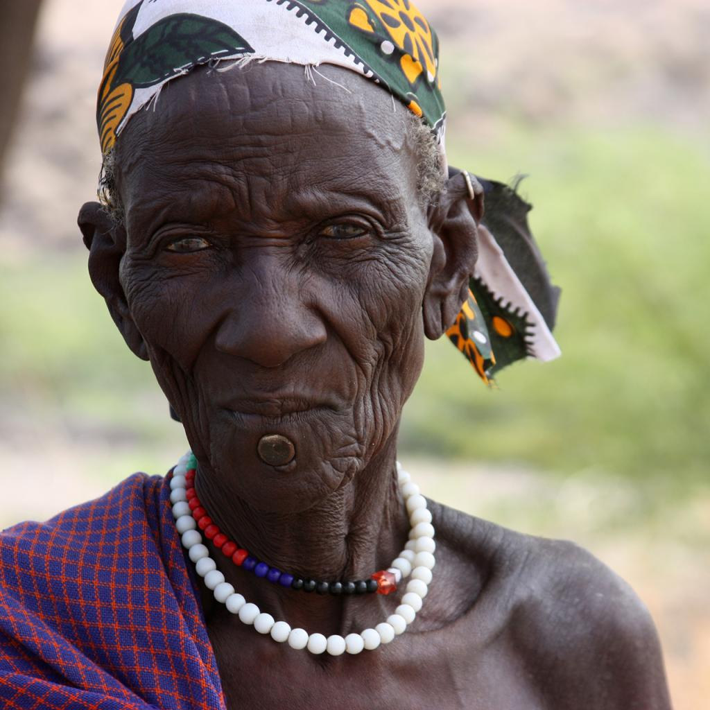 turkana old man in kenya